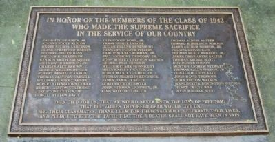 Class of 1942 Memorial image. Click for full size.