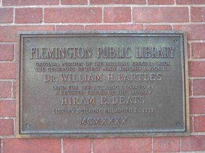 Flemington Public Library Marker image. Click for full size.