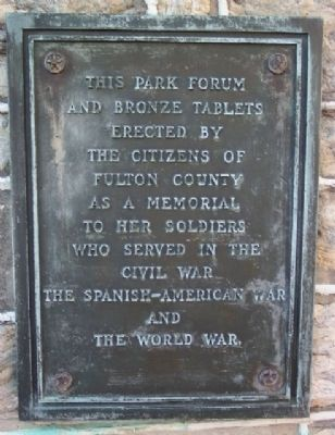 Fulton County Civil War, Spanish-American War, and World War I Memorial Marker image. Click for full size.
