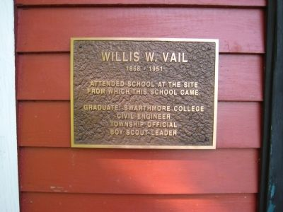 Willis W. Vail Marker image. Click for full size.