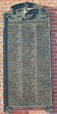 Fulton County World War Memorial Roll Call Tablet 1 image. Click for full size.