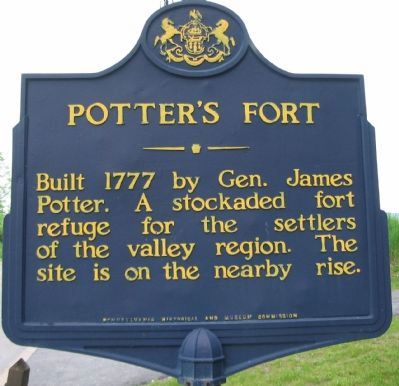 Potter's Fort Marker image. Click for full size.