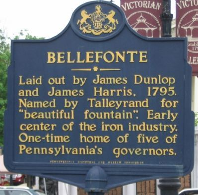 Bellefonte Marker image. Click for full size.