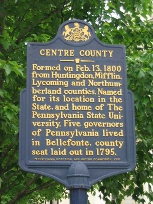 Centre County Marker image. Click for full size.