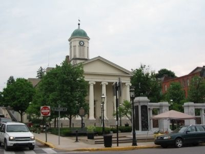 Centre County Marker in Front of the Court House image. Click for full size.