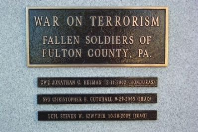 Fulton County War on Terrorism Memorial Roll of Honor image. Click for full size.