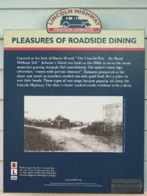 Pleasures of Roadside Dining Marker image. Click for full size.