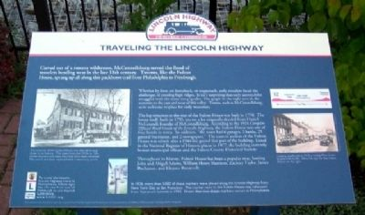 Traveling the Lincoln Highway Marker image. Click for full size.