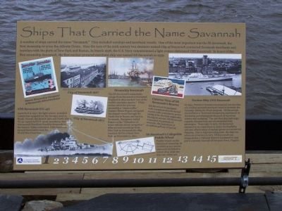 Ships That Carried the Name Savannah Marker image. Click for full size.