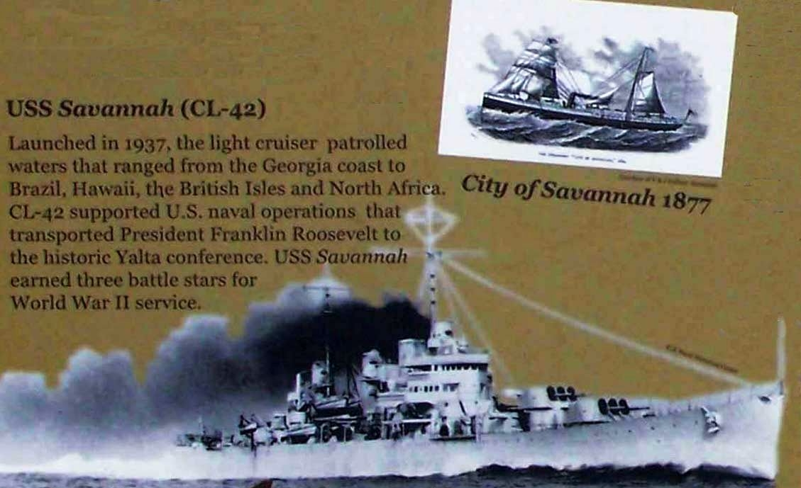 City of <i> Savannah </i> 1877, USS <i> Savannah </i>(CL-42)