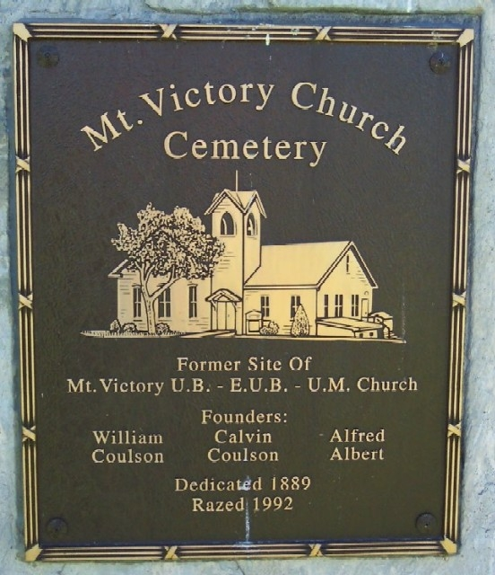 Mt. Victory Church Cemetery Marker