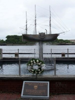 Tribute SS Savannah Water Fountain image. Click for full size.