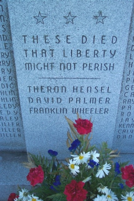 Newburg and Hopewell Township World War II Memorial Honored Dead