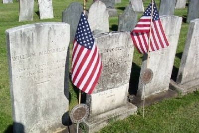 Headstones for Major William McFarlane and Captain Thomas Buchanan image. Click for full size.