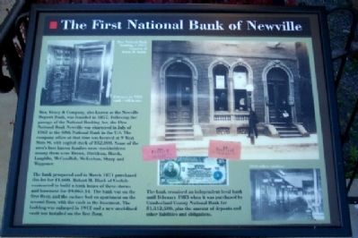The First National Bank of Newville Marker image. Click for full size.