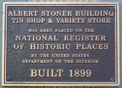 National Register Marker image. Click for full size.