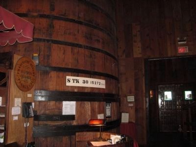 Wine Barrel Inside Restaurant image. Click for full size.