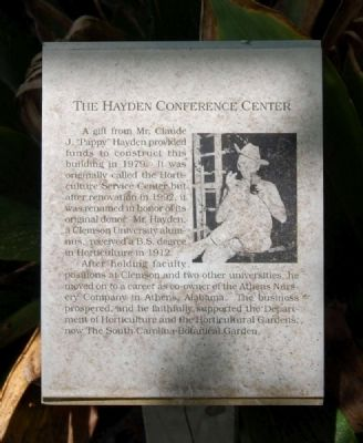 The Hayden Conference Center Marker image. Click for full size.