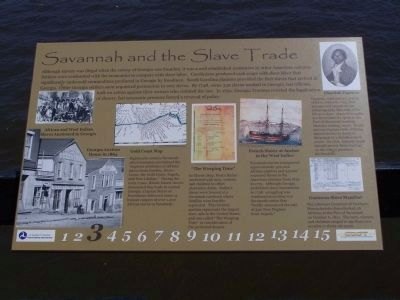 """Savannah and the Slave Trade"" Marker image. Click for full size."