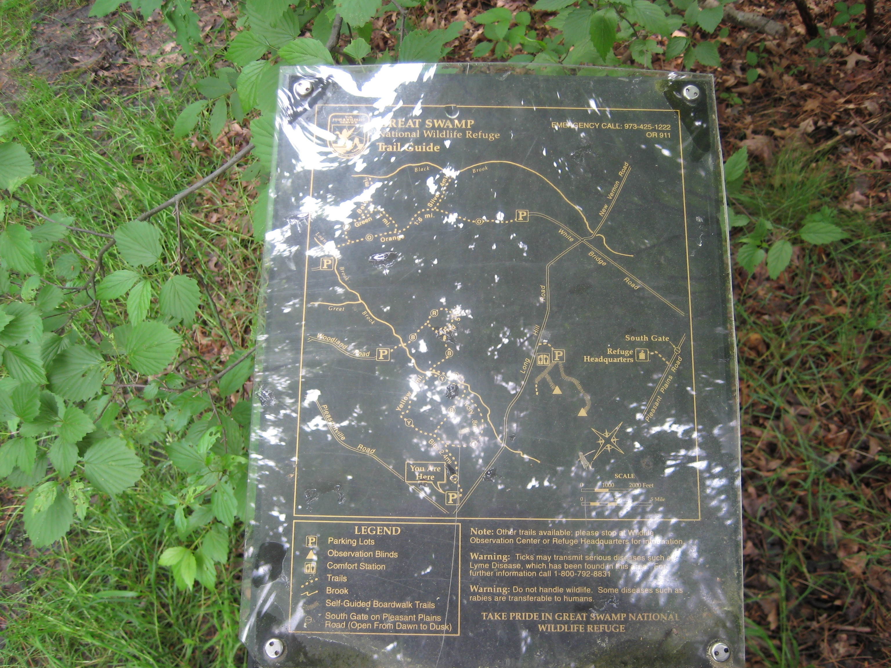 Great Swamp National Wildlife Refuge - Trail Map