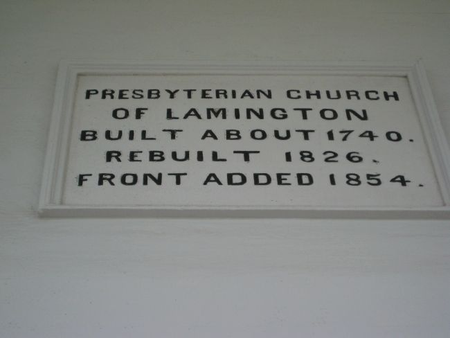 Presbyterian Church of Lamington Marker image. Click for full size.