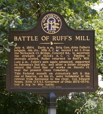 Battle of Ruff's Mill Marker image. Click for full size.