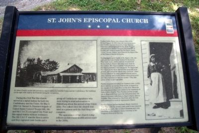 St. John's Episcopal Church CWT Marker image. Click for full size.