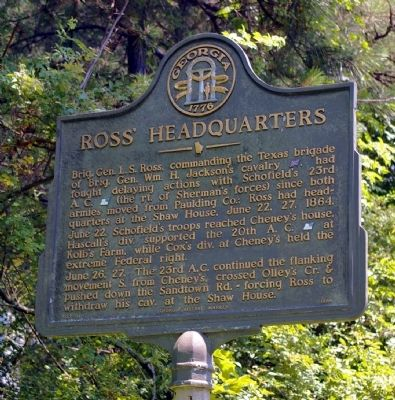 Ross' Headquarters Marker image. Click for full size.