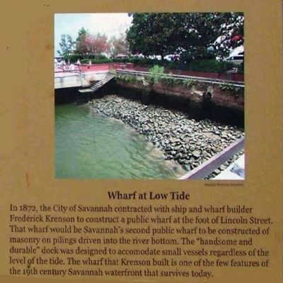 Savannah's Wharves Marker image. Click for full size.