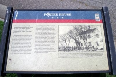 Porter House CWT Marker image. Click for full size.