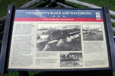 City Point's Rails and Waterways CWT Marker image. Click for full size.