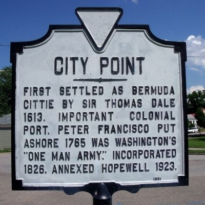 City Point Marker image. Click for full size.