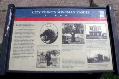 City Point's Wiseman Family CWT Marker image. Click for full size.