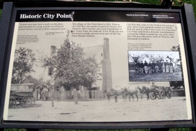 Historic City Point NPS Marker image. Click for full size.