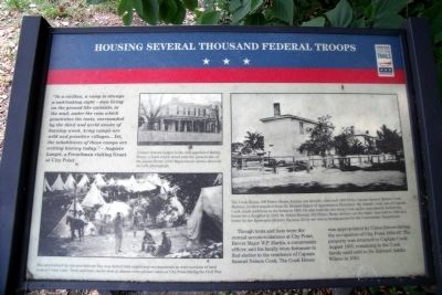 Housing Several Thousand Federal Troops CWT Marker image. Click for full size.