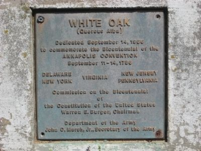 White Oak Marker image. Click for full size.