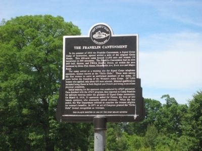 The Franklin Cantonment Marker image. Click for full size.