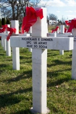 SPC Nicholaus Zimmer Memorial Marker image. Click for full size.