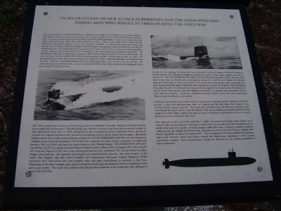Cold War Submarine Memorial Marker image. Click for full size.