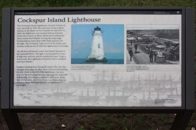 Cockspur Island Lighthouse Marker image. Click for full size.