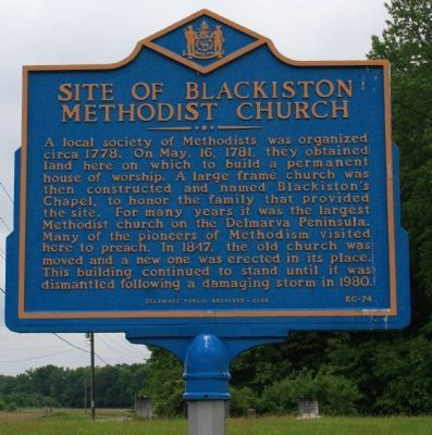 Site of Blackiston Methodist Church Marker image. Click for full size.