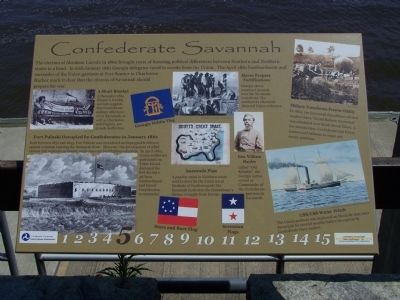 Confederate Savannah Marker image. Click for full size.