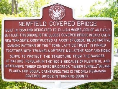 Newfield Covered Bridge Marker image. Click for full size.