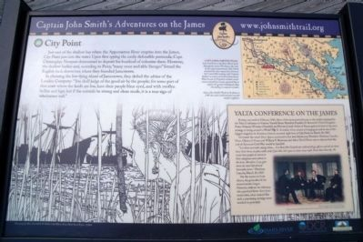 Captain John Smith's Trail City Point Marker image. Click for full size.