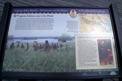 Virginia Indians near City Point Marker image. Click for full size.
