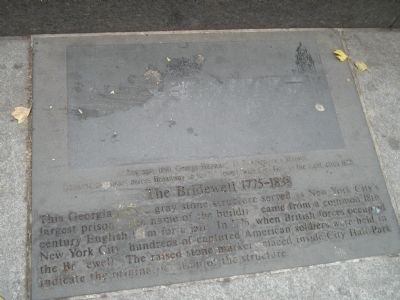 The Bridewell 1775-1838 Marker image. Click for full size.