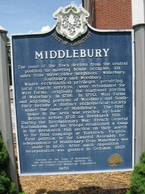 Middlebury Marker image. Click for full size.