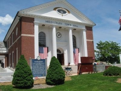 Middlebury Town Hall image. Click for full size.