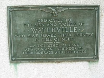 Waterville Veterans Marker image. Click for full size.