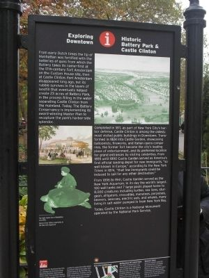 Historic Battery Park & Castle Clinton Marker image. Click for full size.